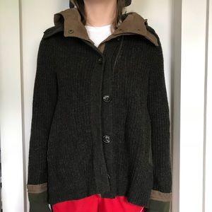 Anthropologie Wool Sweater Coat